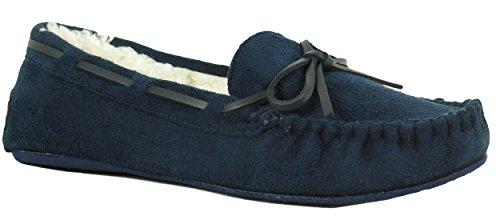Verfrissende Schoeisel Navy Schoenen Met Damesschoenen Met Imitatie Shearling Voering