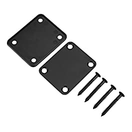 Bnineteenteam Guitar Neck Plate Steel Alloy Guitar Neck Connecting Plate with Screws for Electric Guitar Bass