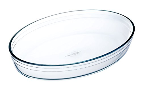 Arcuisine Borosilicate Glass Oval Roaster 13.75 X 9.5 Inch (35x 24 Centimeter)