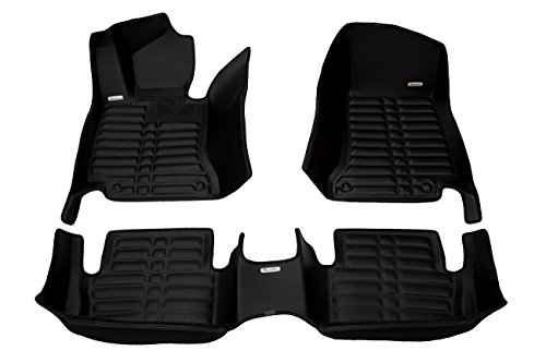 TuxMat Custom Car Floor Mats for Mercedes-Benz C-Class Coupe 2015-2020 Models - Laser Measured, Largest Coverage, Waterproof, All Weather. The Best Mercedes-Benz C-Class Accessory. (Full Set - Black)