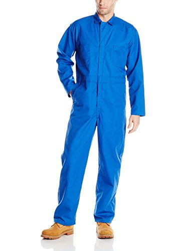 (Red Kap Men's Long Sleeve Twill Action Back Coverall, Electric Blue, 38)