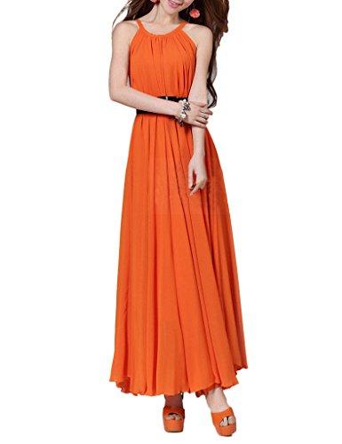 Yacun Women's Sleeveless Chiffon Bridesmaid Swing Casual Maxi Dress Plus Size, XXL, (Yacun Women Maxi Dress)