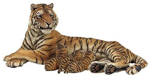 - Lying Tigress Nursing 3 Tiger Cubs - Animal Range - 5/13cm - Hand Painted Figure - Papo by Papo