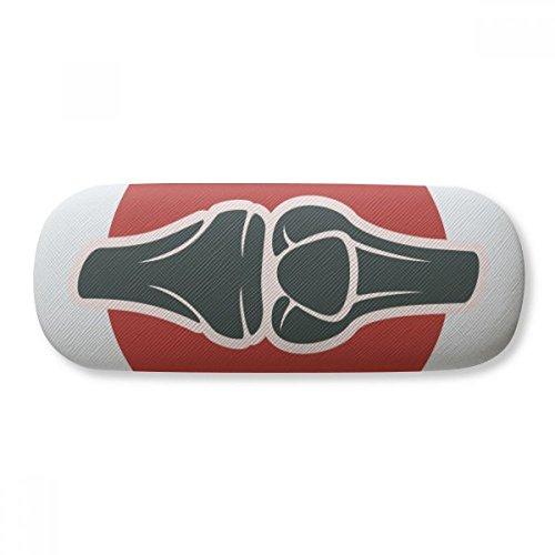 Leg Joints - Caja de almacenamiento para anteojos con ilustración de cuerpo humano