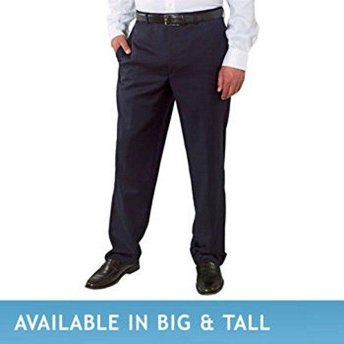 Men's Wool Gabardine Flat Front Pant (3430, Navy)