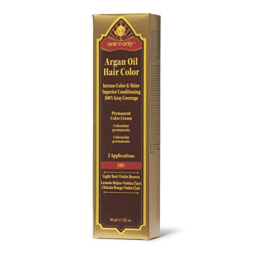 One 'n Only 5RV Light Red Violet Brown Permanent Hair Color Cream 5RV Light Red Violet Brown