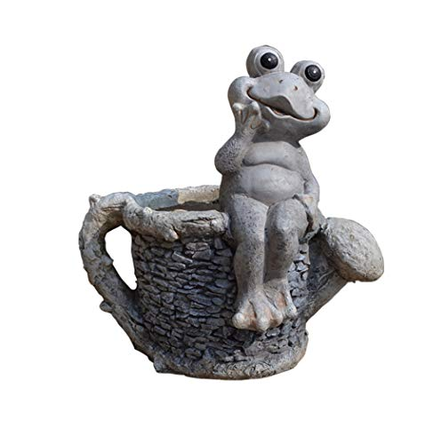 cute frog planter for the garden