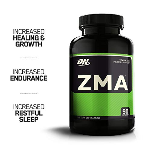 OPTIMUM NUTRITION ZMA Muscle Recovery and Endurance Supplement for Men and Women, Zinc and Magnesium Supplement, 90 Count