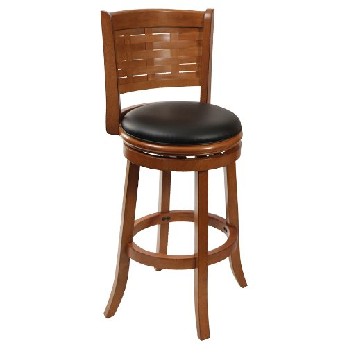 Boraam 41029 Sumatra Swivel Stool, 29-Inch, Brushed (Oak Swivel Stool)