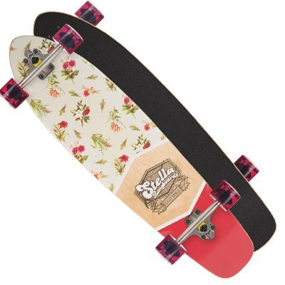 Stella Complete Longboard (Choose Style and Size) (Kicktail Floral, 38