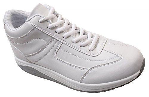 Mujer Piel Profesional de los zapatos de Best médicos, 113344 en blanco blanco