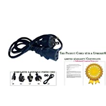 UpBright New AC Power Cord Outlet Line Cable Plug For Epson VS200 VS210 VS220 VS310 Projector