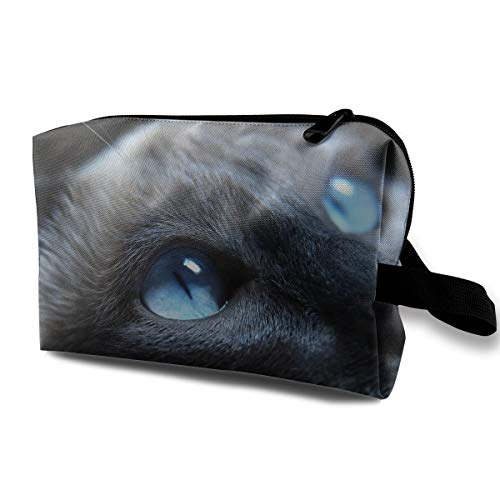 Mintslove Women's Cool Halloween Black Cat Travel Hanging Toiletry Bag Portable Travel Kit Shaving Bathroom Storage Bag Waterproof Cosmetic -