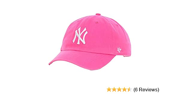 new style b1b37 3a84f  47 Brand. New York Yankees Womens Clean Up Cap - Magenta at Amazon Women s  Clothing store