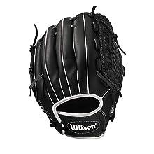 "Wilson WTA03RS1714 Guante de béisbol A360 Slowpitch Diestro, Unisex-Adult, Negro, 14"""