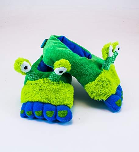 Rich Frog Alien Funky Feet Slippers for Children, Toddler Size 7