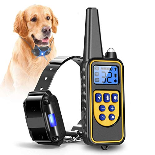 iMounTEK Shock Collar for Dogs, Bark Collar with Remote, 2020 Dog Training Collar w/3 Modes, Up to 2600Ft Remote Range, 0~99 Shock Levels, 3 Channels, for Small Medium Large Dog