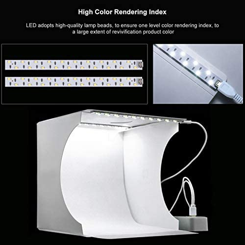 Portable Folding Photography Light Tent kit with 40pcs LED Light 6 Kinds Color Backgrounds for Small Size Products TGF Photo Studio Light Box,Photo Shooting Tent kit