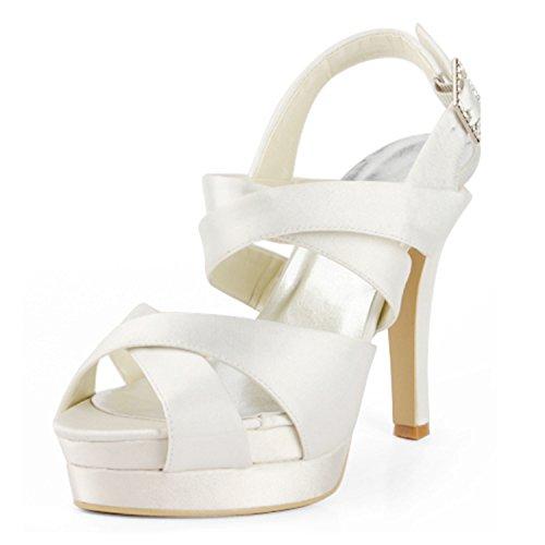 12cm Escarpins Heel pour femme Minitoo Ivory qwIPd
