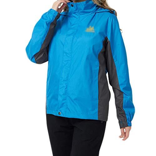 vent À Capuchon Vêtements Dames Garb Épaississement Coupe Survêtement Tourisme Extérieur Vestes D'alpinisme Blue De w16Px41UXq