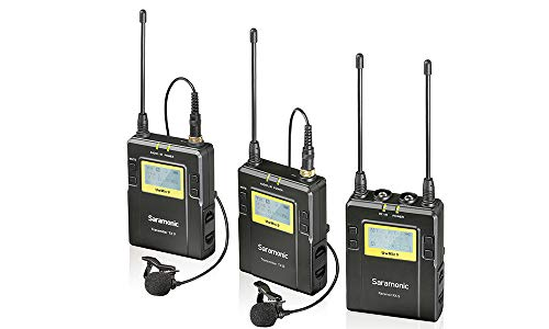 Saramonic UwMIC9 96-Channel Digital UHF Wireless Dual Lavalier Microphone System, Includes 2x TX9 Bodypack Transmitter and RX9 Portable Receiver ()