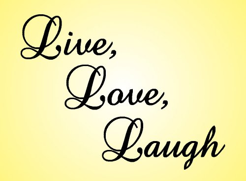 Amazon.com: Wall Decal Word Vinyl Sticker Art - Live, Love, Laugh ...