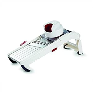 Zyliss Multi-Prep Mandoline - Adjustable Food and Vegetable Slicer Cutting Tool, Including Julienne, Crinkle Cut Blades
