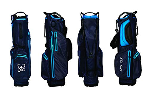 STA-DRY 100% Waterproof Golf Stand Bag Ultralightweight – Navy and Electric Blue