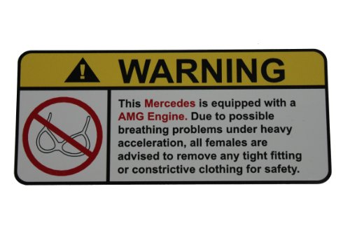 - Mercedes AMG Engine No Bra, Warning decal, sticker