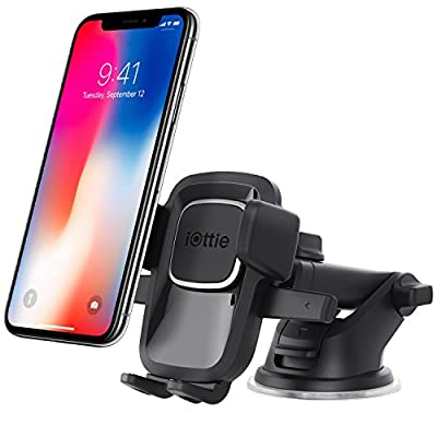 iOttie Easy One Touch 4 Dashboard & Windshield Car Mount Holder for iPhone X 8/8 Plus 7 7 Plus 6s Plus 6s 6 SE Samsung Galaxy S8 Plus S8 Edge S7 S6 Note 8 5SE Samsung Galaxy S8 Plus S8 Edge S7 S6 Note 8