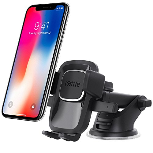 iOttie Easy One Touch 4 Dashboard & Windshield Car Phone Mount Holder for iPhone X 8 Plus 7 6s SE Samsung Galaxy S9 S8 Edge S7 S6 Note 8 & other Smartphone - Edge Mobile