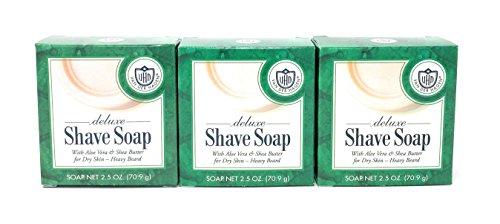 Deluxe Soap - Van der Hagen Deluxe Shave Soap - 2.5 oz - 3 pk