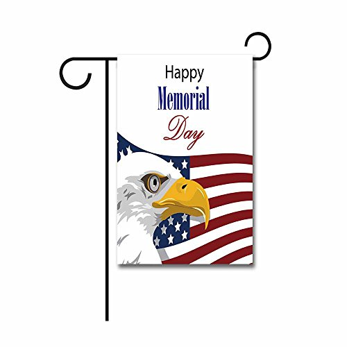Display Flag Memorial Day (KafePross Happy Memorial Day with American Eagle Garden Flag 12.5