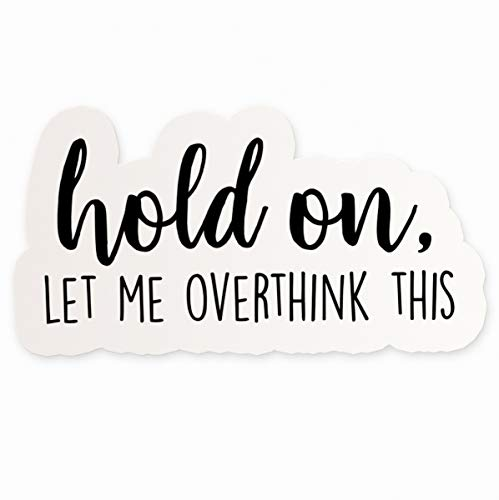 Hold On Let Me Overthink This Vinyl Sticker   4
