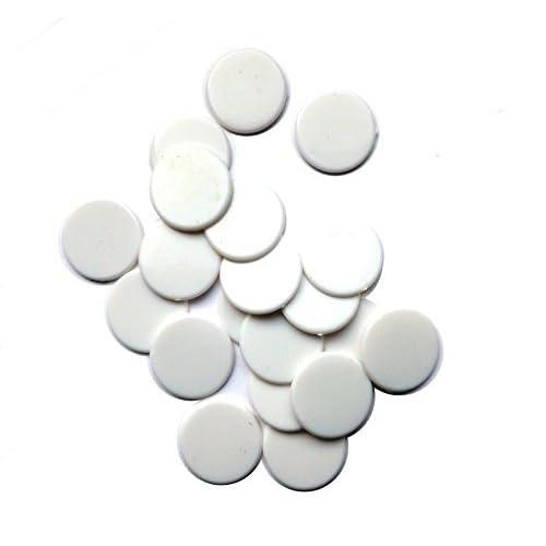 SchachQueen - 100 pcs. jetons plastiques opaques 19 mm 3/4 inch BLANC