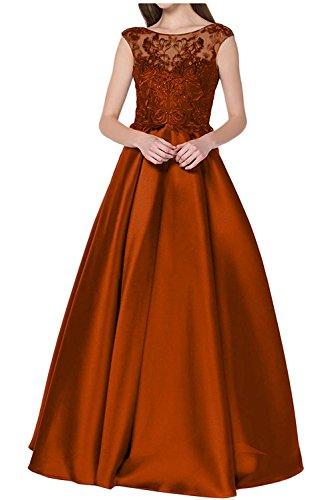 Linie Lang Brautmutterkleider Tanzenkleider Braun A Herrlich Rock Satin La Ballkleider mia Orange Abendkleider Dunkel Braut nBYqRp7w