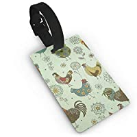 Travel Luggage ID Tags Chicken Painting Suitcase Label Carry On Cards Business Card Holder