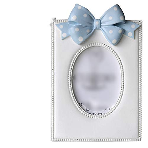 Butterfly Oval Resin Photo Frame Bow Wedding Wall Photo Frame Elliptical Shape Picture Frame Wedding Cute,1-3.5INCH