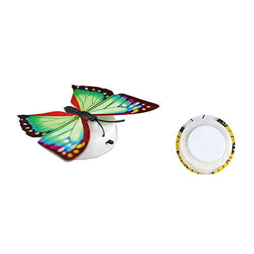 Geetobby Butterfly Stained Glass Night Light Flower with Trim Butterfly Night Light Nursery Bedroom Bathroom Decorative Elegant Home Decoration (15 Pcs)