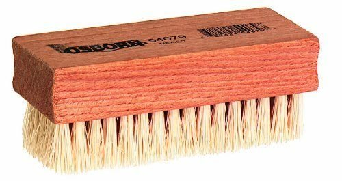 Osborn International 54079SP White Tampico Nail Brush, 3-3/4'' Brush Area Length