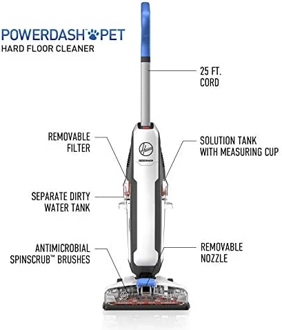 Hoover PowerDash Pet Hard Floor Cleaner Machine, FH41000, White