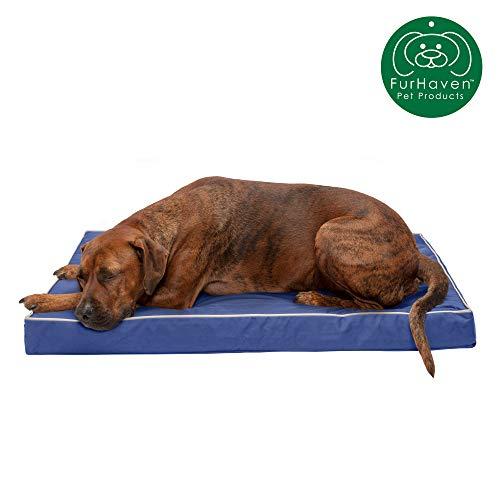 Furhaven Pet Dog Ultra Bed Push Plush Faux Fur &...