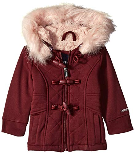 Limited Too Baby Girls Quilted Toggle Fleece Jacket, Burgundy, 12M