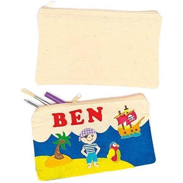 Baker Ross Estuches de Lápices de Tela para Pintar (Paquete de 5) Manualidades infantiles: Amazon.es: Hogar