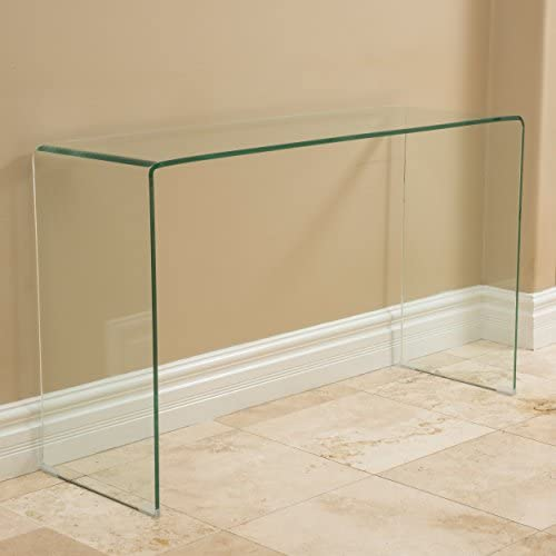 Christopher Knight Home Classon Glass Console Table, Transparent