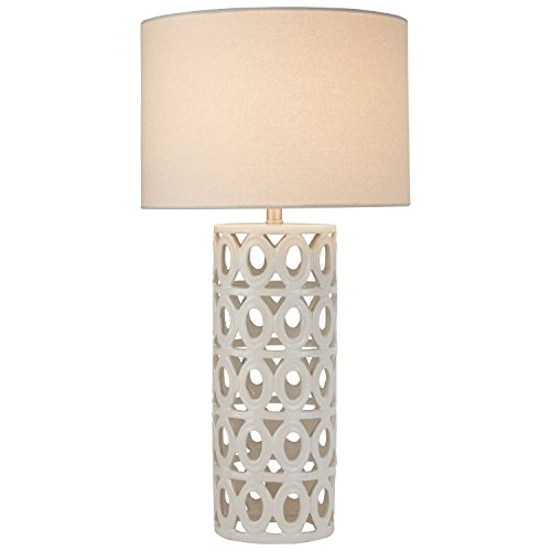 - Stone & Beam Ceramic Geometric Table Lamp, 25