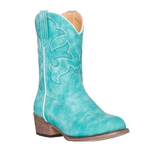 Children Western Kids Cowboy Boot,Turquoise,2 M US Little Kid