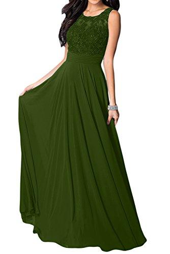 Missdressy - Vestido - trapecio - para mujer verde oliva
