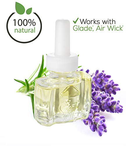 (3 Pack) 100% Natural Lavender Scented Oil Plug in Refill for Glade Air Wick