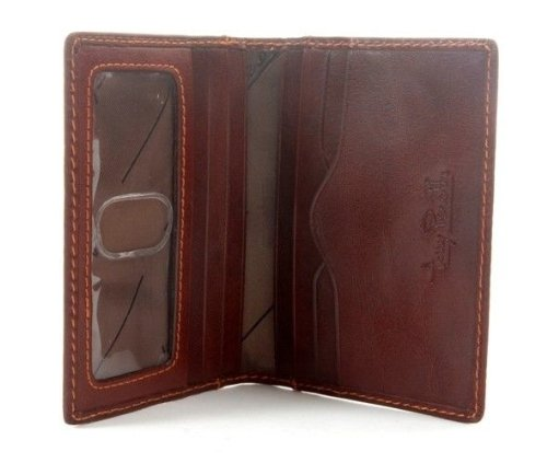 - Tony Perotti Men's Italian Bull Leather Front Pocket Weekender Credit Card Wallet with ID Window